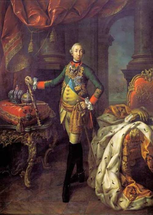 The Emperor Peter III. Portrait by Antropov, 1762