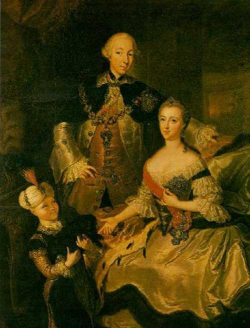 Tsarevich Peter Fedorovich and Grand Duchess Ekaterina Alexeevna. Anna Rosina Lisiewska