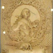 Unknown North Russian carver. A plaque with a portrait of Grand Duke Peter Fedorovich. St. Petersburg