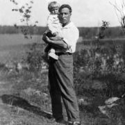 Pasternak with his son Leonid in Peredelkino, 1939