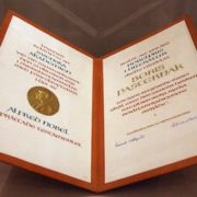 The Nobel Prize of Boris Pasternak for the novel Doctor Zhivago