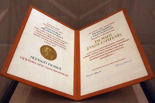 The Nobel Prize of Boris Pasternak for the novel Doctor Zhivago