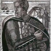 Alexander Nevsky, engraving by Vladimir Favorsky