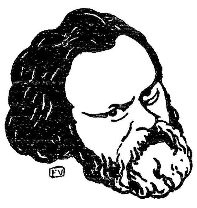 Felix Vallotton. Portrait of Herzen, 1895