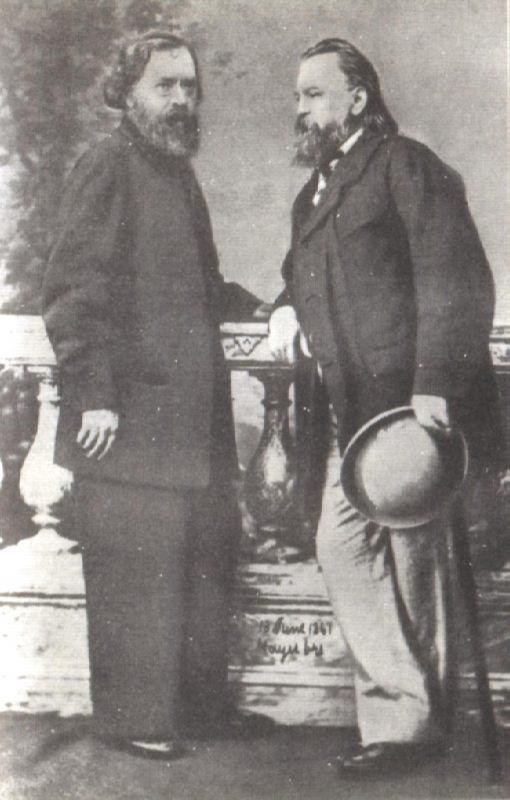 N.P. Ogarev and A.I. Herzen, 1861