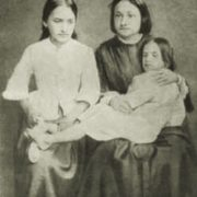 Natalia Ogareva-Tuchkova with Herzen's children - Natalia and Olga