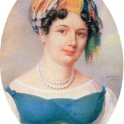 Ekaterina Karamzina by J. Benner (1817, Hermitage)