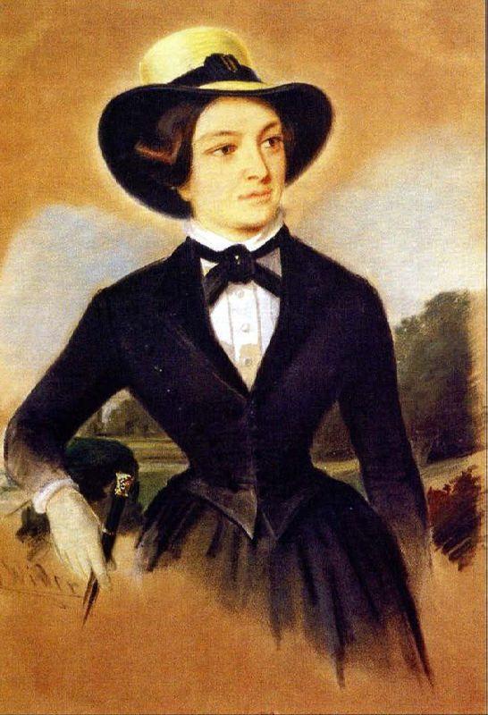 Elizaveta Karamzina by W. Wieder (1840s, Pushkin museum)
