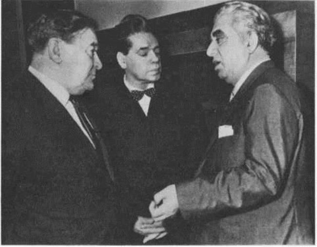 L. Utesov, A. Raikin and A. Khachaturyan