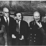 N. V. Makarova, A. A. Shaporin, D. D. Shostakovich, I. Kh. Bagramyan and A. I. Khachaturyan
