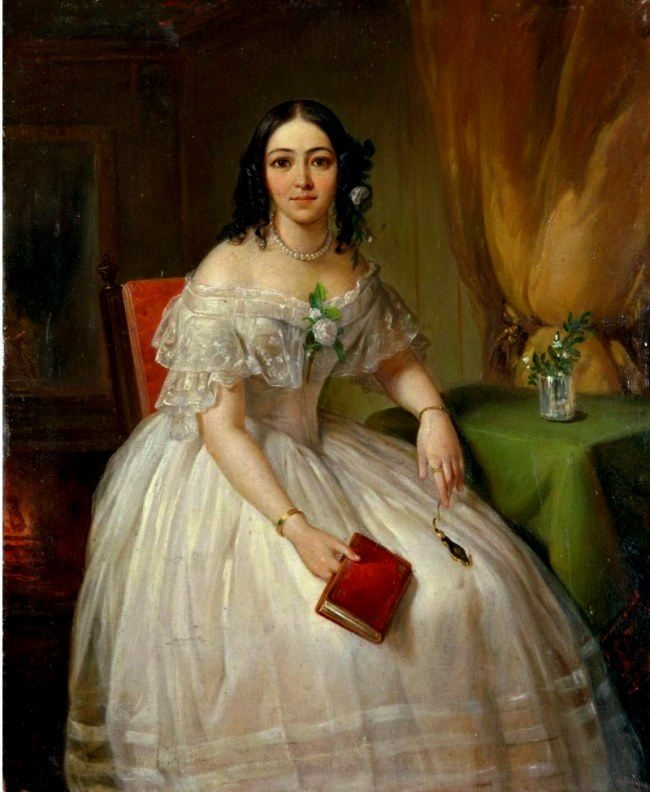 Pimen Orlov. Sofya Nikolaevna Karamzina (1802-1856), the maid of honor, the daughter of N.M. Karamzin