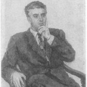 Portrait of A. Khachaturian by P. P. Konchalovsky. 1953