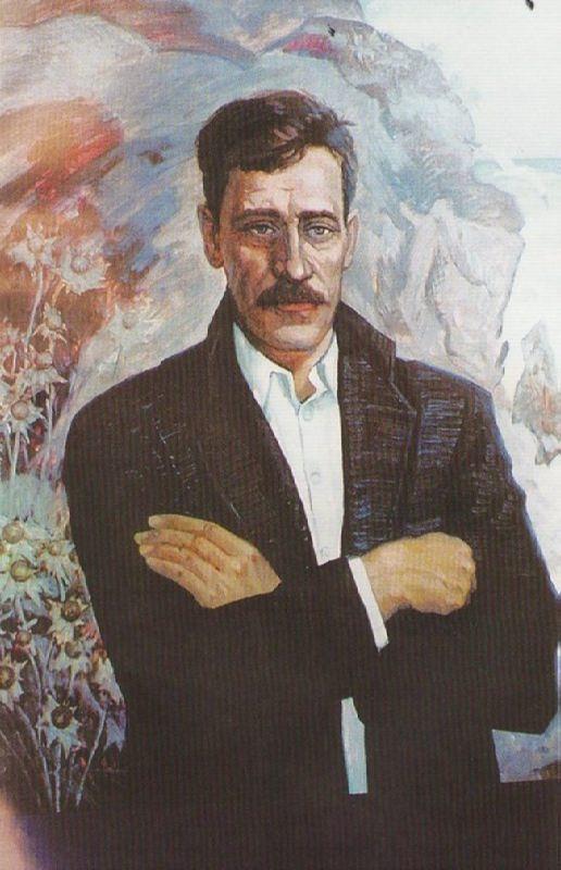 Portrait of Alexander Grin by V. Kashin, 1995