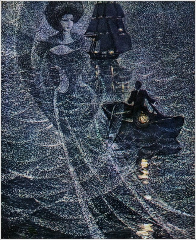 Running on the waves. Illustration by Savva Brodsky
