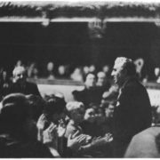 Spectators of the Bolshoi Theater greet Aram Khachaturian