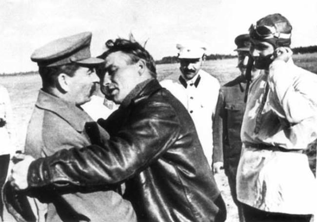Valery Chkalov and Stalin