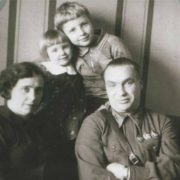 Valery Chkalov and his family