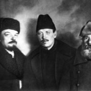 Vladimir Lenin and Demyan Bedny