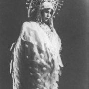 E.A. Stepanova as the Swan-Bird. The Tale of Tsar Saltan. Bolshoi Theater, 1913