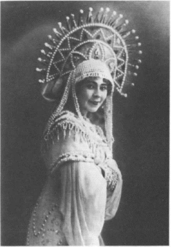 E.A. Stepanova in the role of the Swan Princess. Bolshoi Theater, 1913