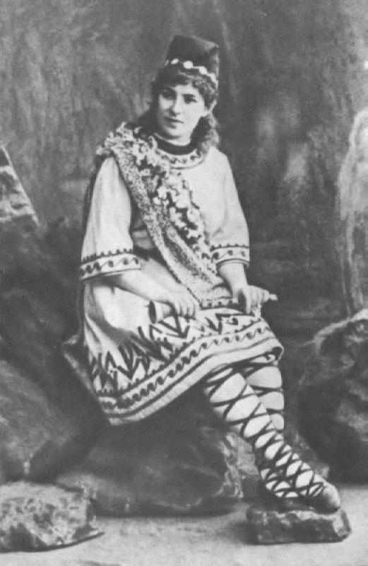 E.I. Zbrueva in the role of Lel. The Snow Maiden. Bolshoi Theater, 1894