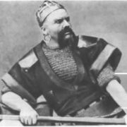 F.I. Shalyapin as the Varangian guest. Sadko, Russian private opera, 1897