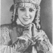 I. Maslennikova in the role of Snow Maiden. Bolshoi Theater, 1954