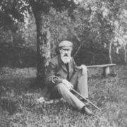 N.A. Rimsky-Korsakov under his beloved tree in 1904