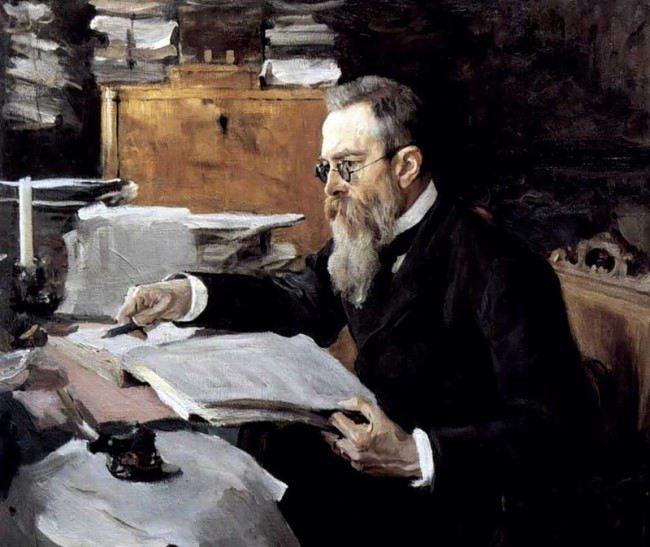 Portrait of Nikolai Rimsky-Korsakov by V. Serov, 1898