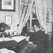 Rimsky-Korsakov in his office in St. Petersburg