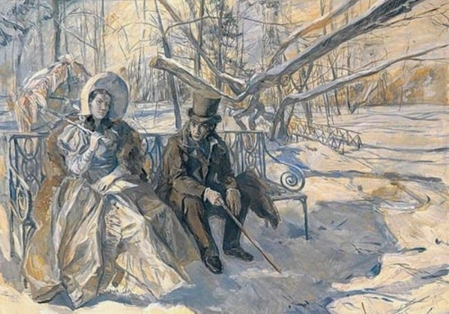 Alexander Pushkin and Anna Kern
