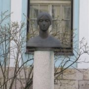 Bust of Anna Kern at the hall of Ave Sol, Riga