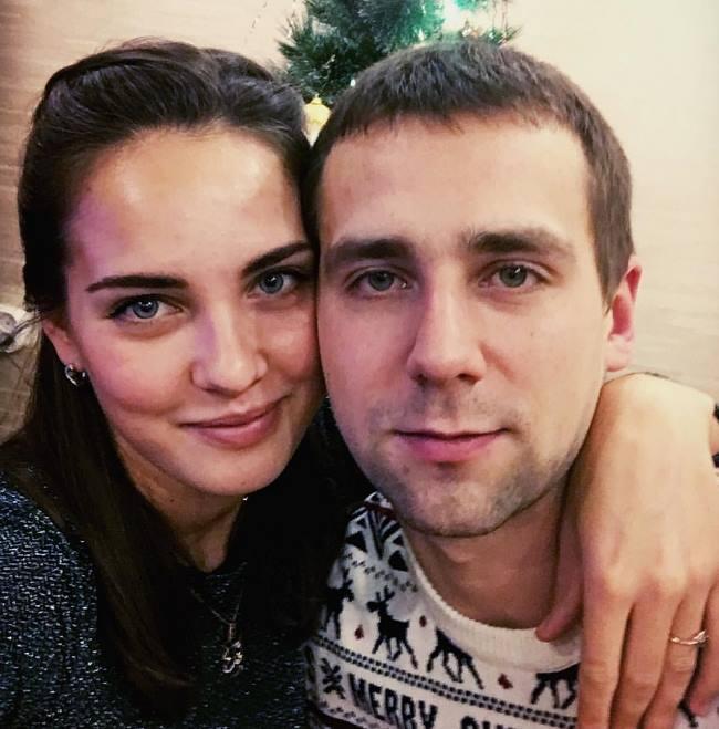 Nastya Bryzgalova and her husband