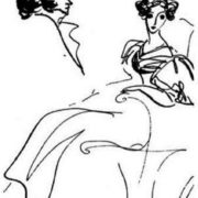 Pushkin and Anna Kern. Picture by Nadezhda Rusheva