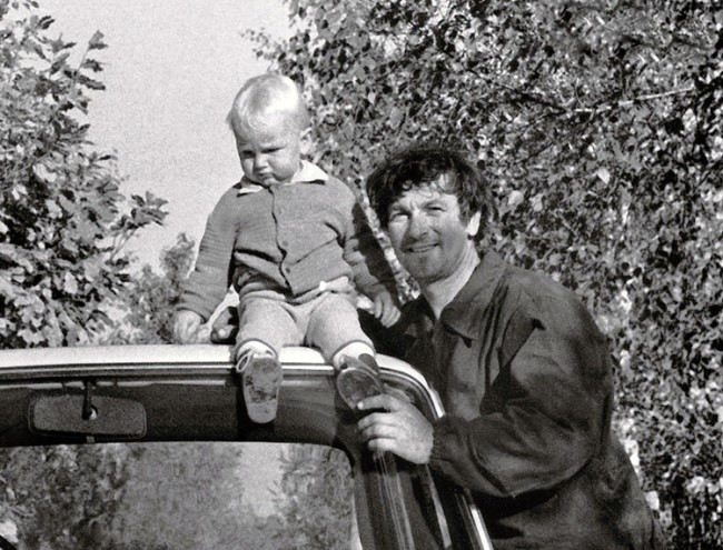 Belyavsky with his son Boris