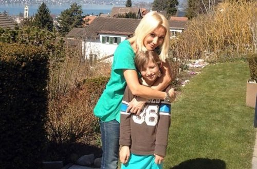 Cute Lera Kudryavtseva and her son