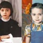 Cute Nastya Zavorotnyuk in her childhood