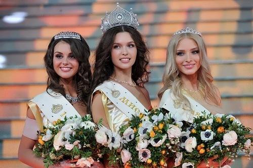 Miss Russia 2012 three most beautiful girls