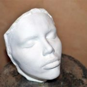 Face cast of Sambuka for the statue of the Little Mermaid