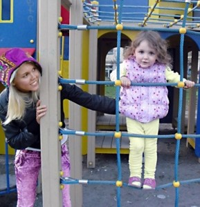 Katya Sambuka with her daughter