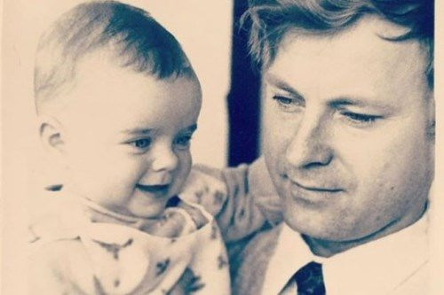 Little Natasha Koroleva and her father