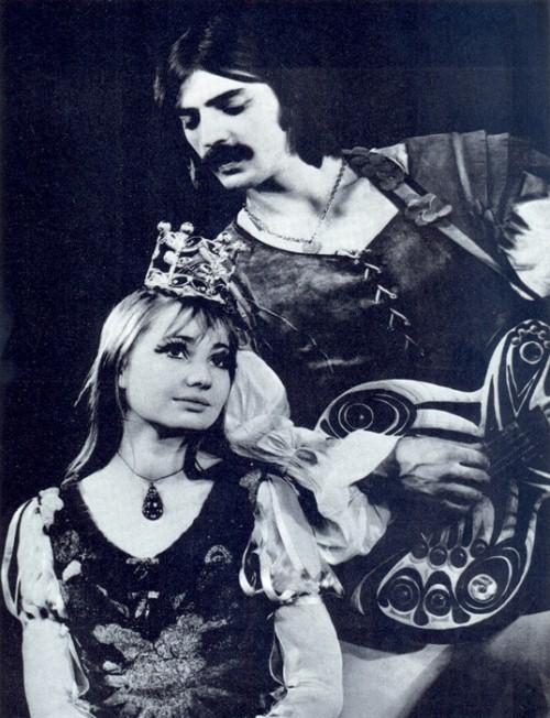 Mikhail Boyarsky and his wife