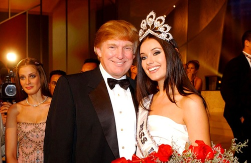 Donald Trump and Oxana Fedorova