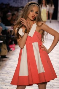 Fashionable Russian supermodel Ruslana Korshunova