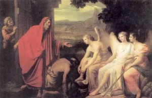 Appearance of Three Angels to Abraham Bryullov