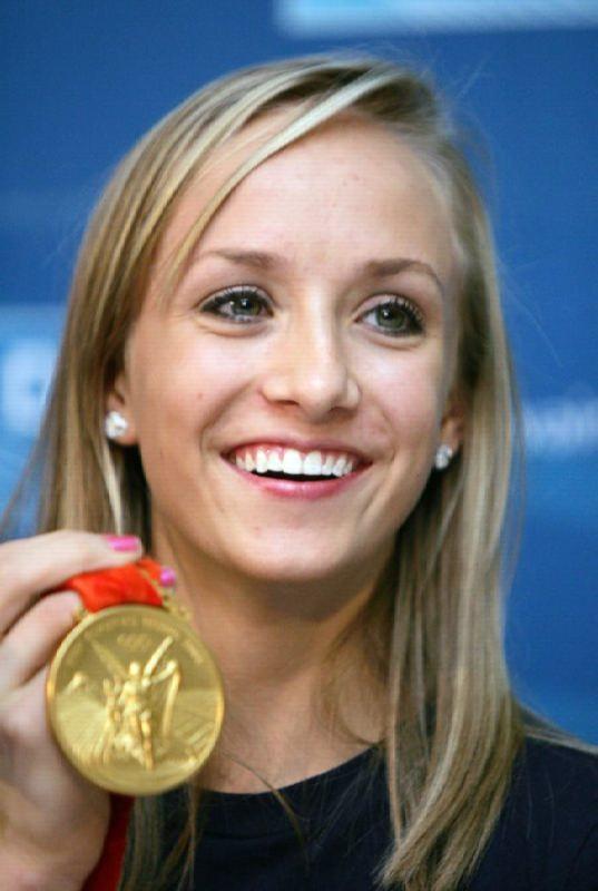 Attractive gymnast Anastasia Liukin