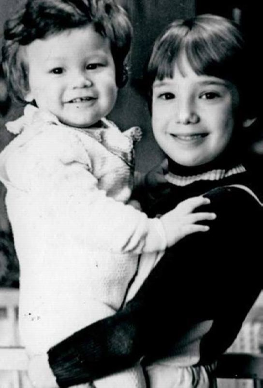 Cute Khamatova and her brother in childhood