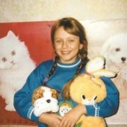 Cute Yulia Nachalova in her childhood