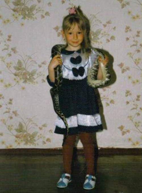 Daria Sagalova in her childhood
