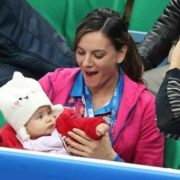 Elena Isinbayeva and her daughter